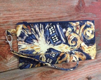 Doctor Who inspired zipper pouch.