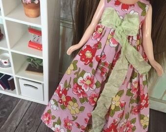 SALE Blythe Angel Dress - Pink and Green Floral