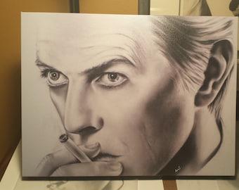 David Bowie artists print on canvas 12 x 16 wall art portrait