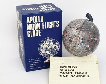 Vintage (New) Apollo Moon Flights Globe -  New In Original Package