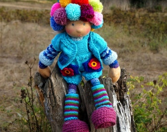 Waldorf knitted doll Mimi 14""