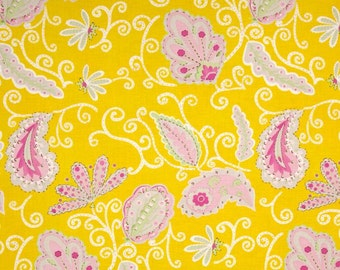 Dena Designs for Free Spirit - PRETTY LITTLE THINGS - Madeline in Yellow - 1 Yard - Cotton Fabric