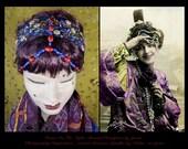 Art Nouveau Headpiece ,Edwardian Headband,Downton Abbey,1920s Headpiece,20s Dress Headpiece,Flapper Headpiece,Beaded Headpiece,20s Headdress