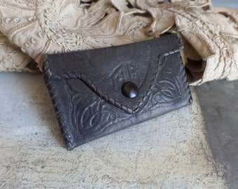 Old french Art Nouveau Ladies small leather purse
