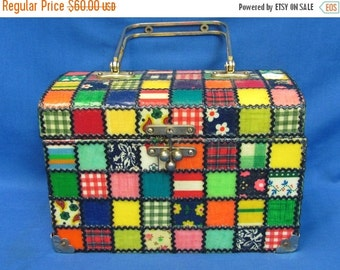 Year End Sale Beautiful Vintage Patchwork Purse Hand Bag