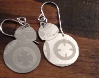 Stainless steel BB-8 earrings