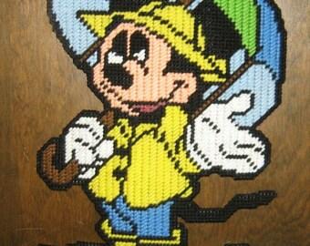 It's Raining Mickey Mouse Plastic Canvas Pattern