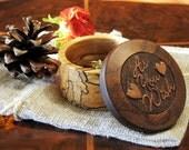 Proposal Ring box, Engagement Ring Box, Wedding Ring Box, Wood Ring Box, Ring Bearer Box, Rustic Ring Box