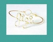 """Dainty  """"Gigi"""" bracelet. Gigi Gift. Gigi Bracelet. Gigi Jewelry Nona Nonnie Nanna Granny Mimi Yaya Bracelet. Gifts under 20"""