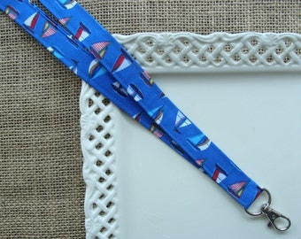 Fabric Lanyard - Blue Water Sailing