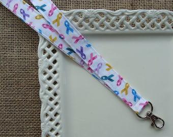 Fabric Lanyard - Cancer Awareness