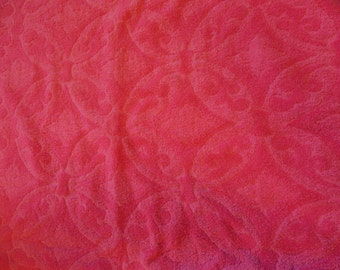 Vintage Pinks Print Bath Towel By Fashion Manor,  All Cotton Towel