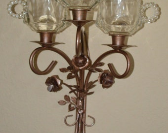 Copper Wall Sconces-Handmade-Upcycled