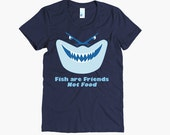 "Finding Nemo ""Fish Are Friends Not Food"" t-shirt - Disney Shirt - Bruce - Shark"