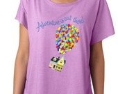 Up Adventure Is Out There Dolman Top | Flying House | Disney Fashion Top | Disney T-shirt