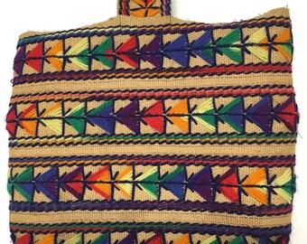 vintage boho colorful ethnic embroidered Guatemalan bag