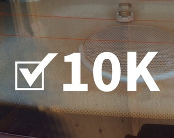 10K Decal, Runner Decal, 10K Car Decal, Marathon Decal, 10K Sticker, 10K, 10K Laptop Sticker, 10K Laptop Decal, Vinyl Decal, Track Decal
