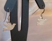 Silver plated bird earrings