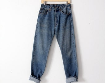 FREE SHIP  Levis 501 denim jeans, vintage 501s, american denim 30x32