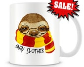 SALE with minor imperfections detailed on the pictures -Hairy Slother coffee mug