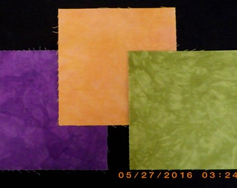 6x6 Inch Precut Quilt Squares, FALL, 84 Hand Dyed Squares Total