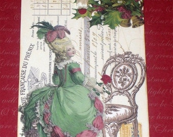 Christmas in July Marie Antoinette Gift Tags for Christmas ECS Paris