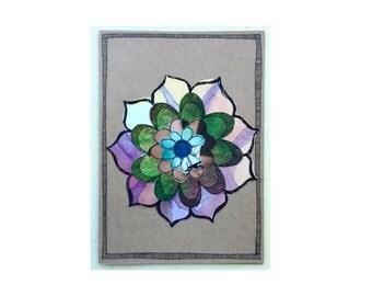 Handmade Blank Card - Paper Flower Garden series 1 - 5x7 (PFGL-0030)