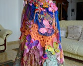 RESERVED FOR E.First payment Bohemian romantic altered couture dress mori girl gypsy dress art to wear