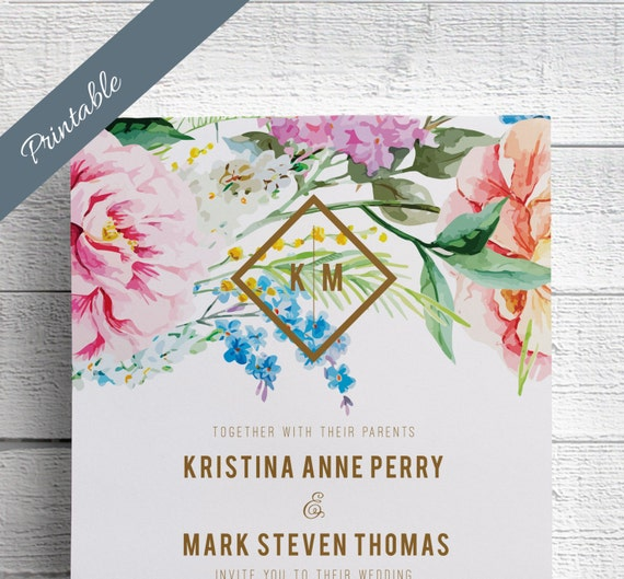 Spring Wedding Invitations Printable