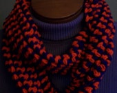 Clemson Tigers Scarf Infinity Crocheted Purple Orange Crochet Handmade