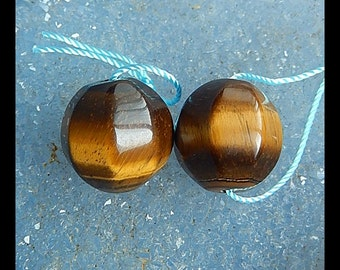Tiger Eyes Faceted Earring Beads,15mm,9.6g