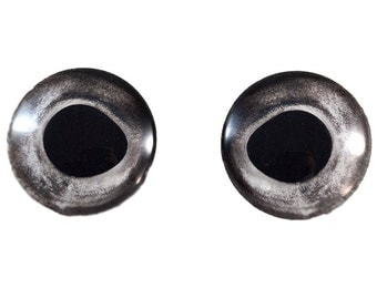 Natural Fish Eyes - 25mm - Fish Eyes - Silver