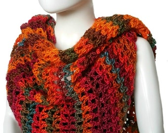 Crochet Shawl Pattern - Coraline in Rio Mini Shawl Crochet Pattern - Written Pattern PDF
