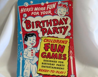 1949 Vintage Birthday Party Games