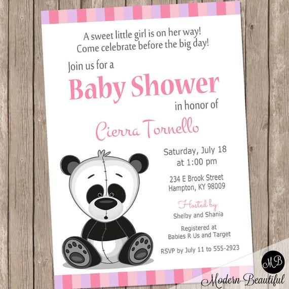 Panda baby shower invitation girl baby shower invitation printable il570xn filmwisefo