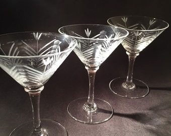 Deco Martini Glasses - Set of 4