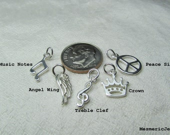 Add One Sterling Silver Charm to Personalized Necklace or Initial Bracelet from MesmericJewelry