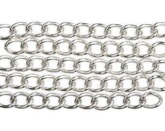 25 Extender Chains Silver Tone For Bracelets Necklaces 2 inch extension chains DIY Necklace crafts H583 x 5