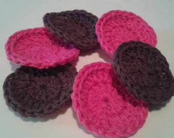 Reusable Crocheted Cotton Facial Scrubbies Set of 6