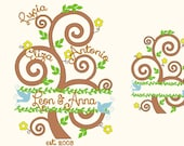 Tree of life, bean stitch outline applique and mini font, family tree, family garden flags - INSTANT DOWNLOAD  for hoop 4x4, 5x7 and 6x10