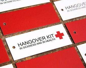 SALE - Hangover Kit Tags -  Wedding Hang Tags - SET OF 10