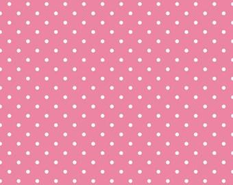 Swiss Dot White Dot On Hot Pink Riley Blake