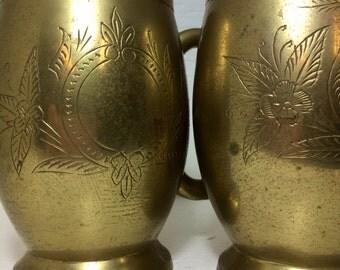 Set of 2 Mule mugs brass