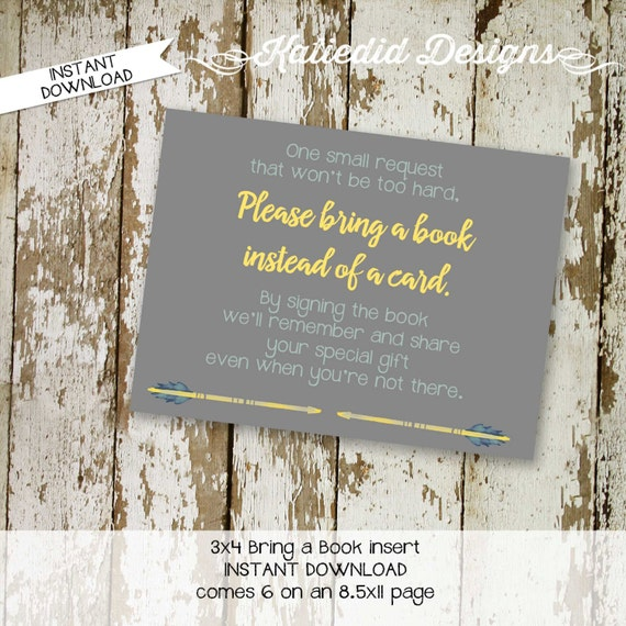 Bring a Book INSTANT DOWNLOAD item 1297 insert enclosure card build a library