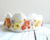 Birthday Crown, Floral crown with yellow  flowers made of felt