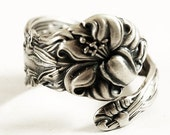 Petite Stargazer Lily Ring, Sterling Silver Spoon Ring, Tiger Lily, Frontenac Victorian, Floral Ring, Gift For Her, Custom Ring, Small, 5916