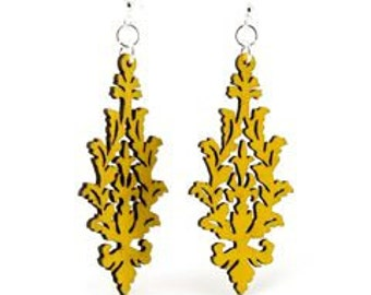 Leaf Cluster-Wooden Laser Cut Earrings