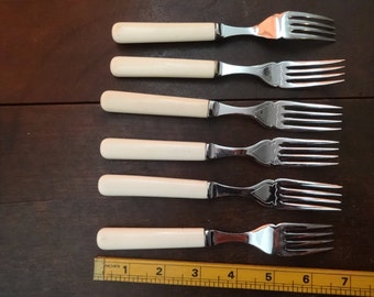 Vintage English Fork Forks Cutlery Silverware Flatware circa 1940-50's / English Shop