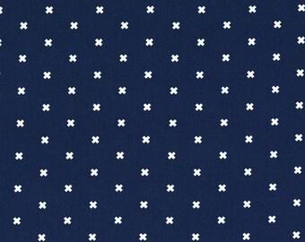 XOXO Navy 5001 006 Basics by Cotton + Steel