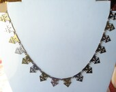 Art Deco Gold and Silver Tone Necklace 1920's 1930's